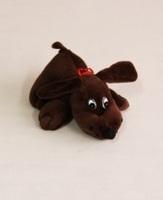 Pluche hond donker bruin