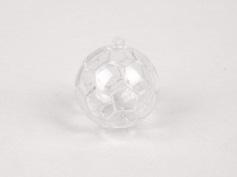 Plexi Voetbal 6cm met lus transparant