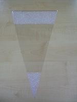 Puntzak helder wit kantmotief 25 x 46 cm