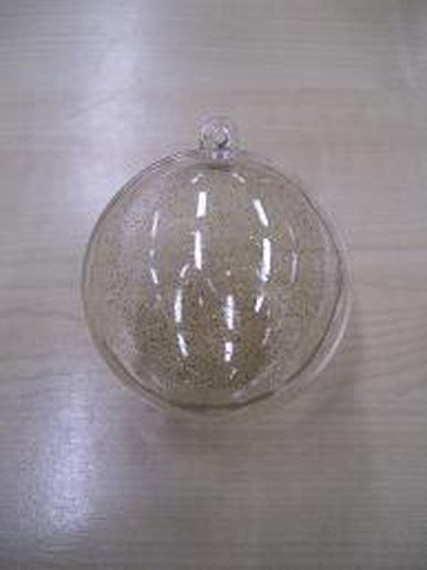 Plexi Bol Helder Gold Glitter 5,5cm