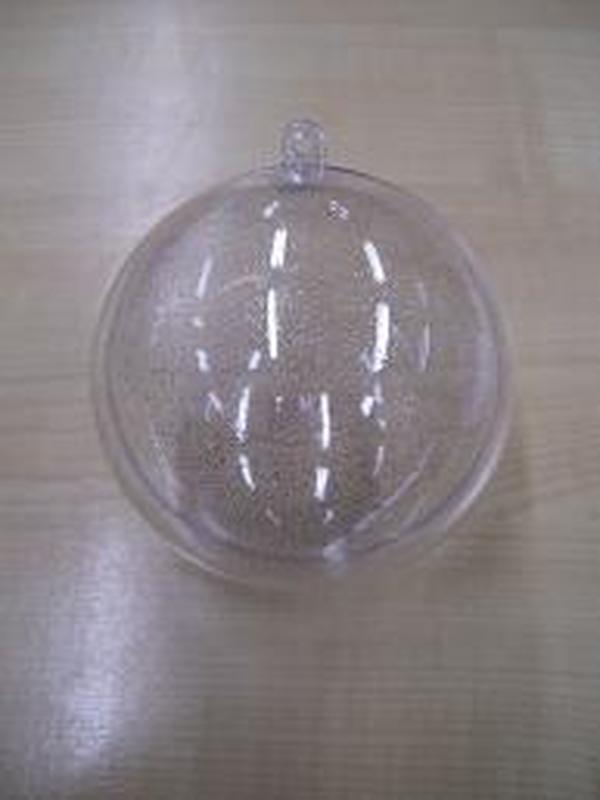 Plexi Bol Helder Silver Glitter 8cm