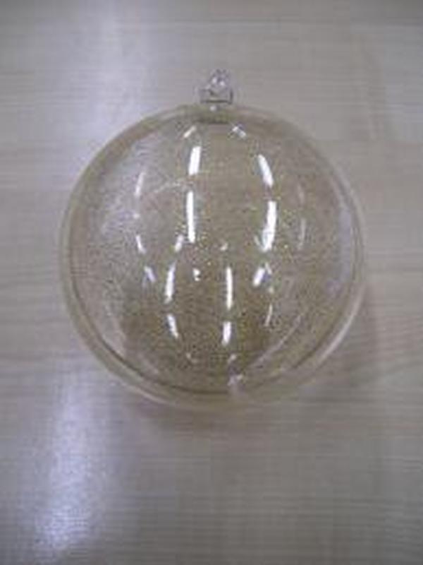 Plexi Bol Helder Gold Glitter 8cm