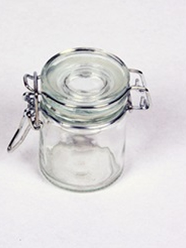 Cilinder glas helder klikstop 4,5 x 6 cm hoogte
