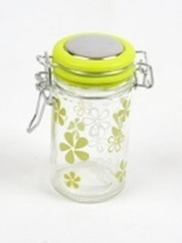Cilinder Glas Groen Klein Bloem H 9 x B 4,5 cm