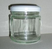 Confituur Potje met wit deksel Rond 106 ml