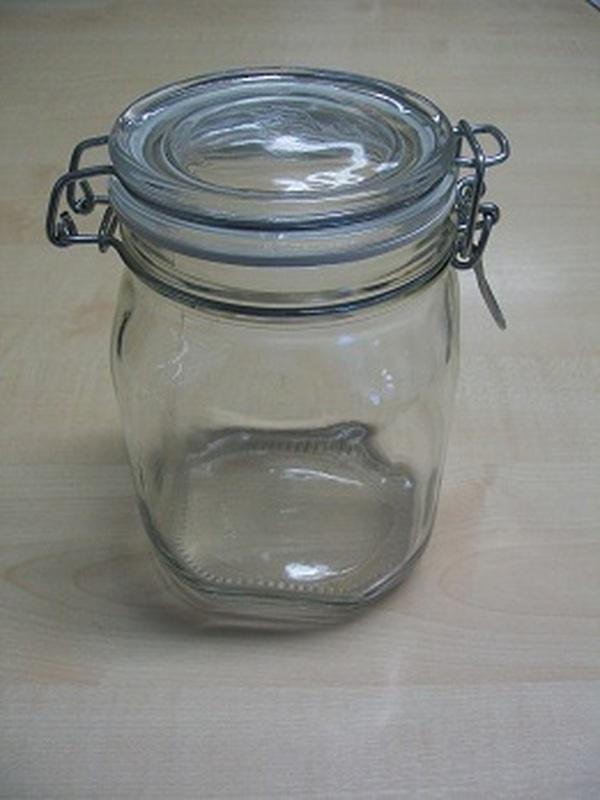 Glazen bokaal klikstop 1kg