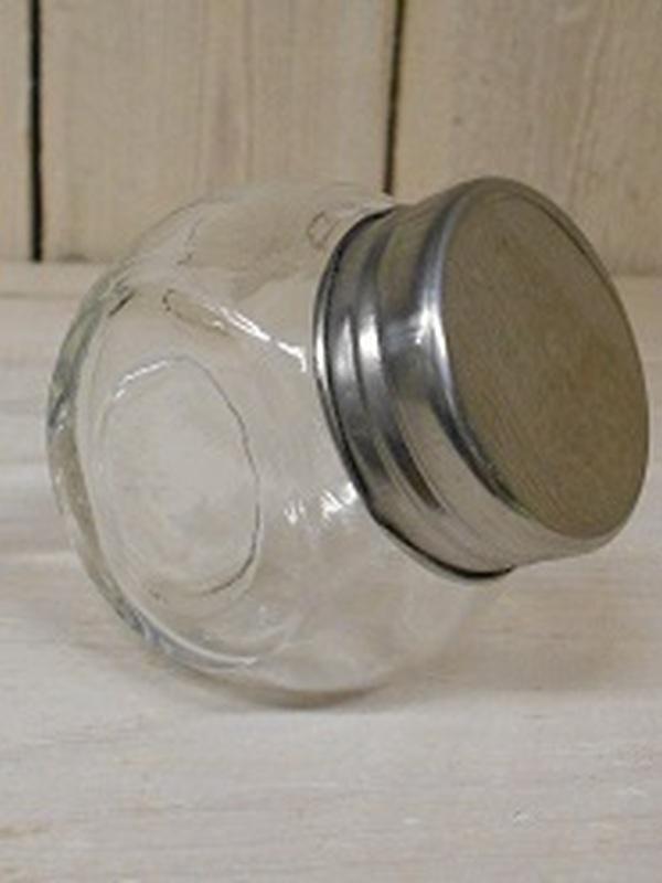Glazen snoeppot draaideksel klein