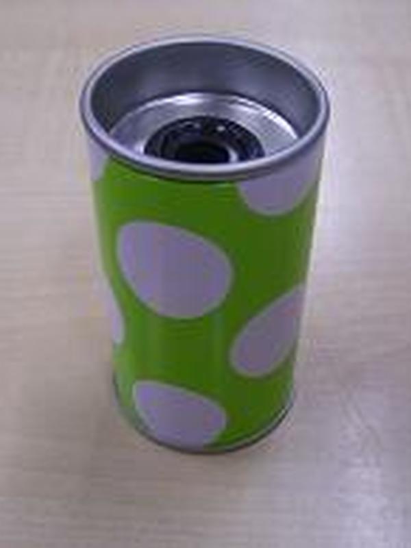 Slijper Blikje Lime + Witte Stippen
