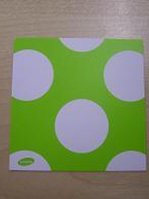 Naamkaartje Lime Witte Stippen