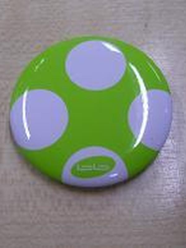 Paddestoel Lime Wit Pin Rond 4cm