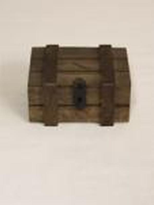 Fragile Houten Koffertje Bruin 5,5 x 5,5 x 8 cm