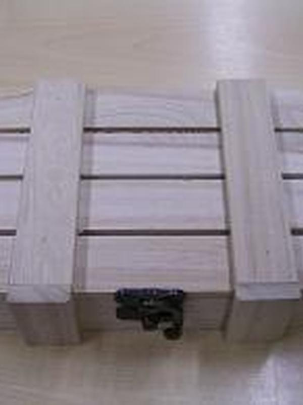 Lattenkoffer Hout 16cmx11cmx4cm