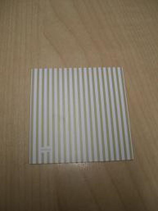 Patchwork Label Beige-Wit strepen
