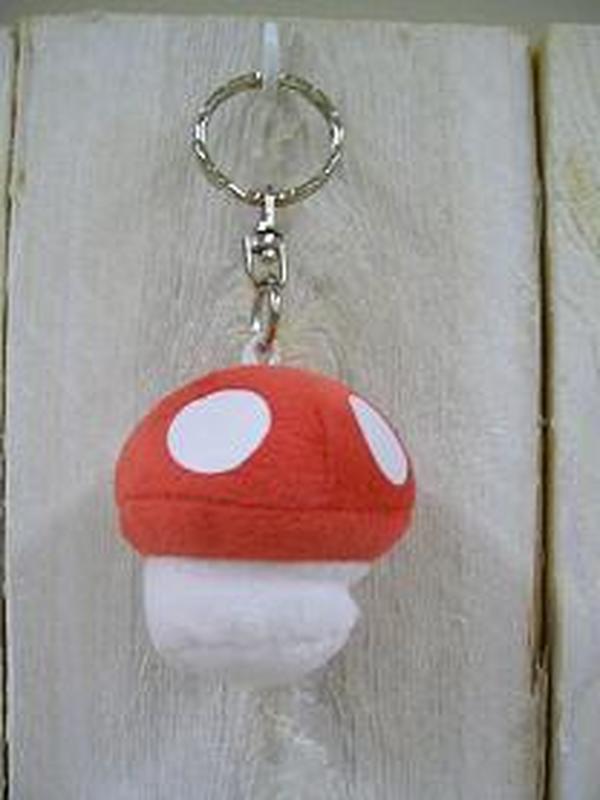 paddenstoel pluche sleutelhanger Rood