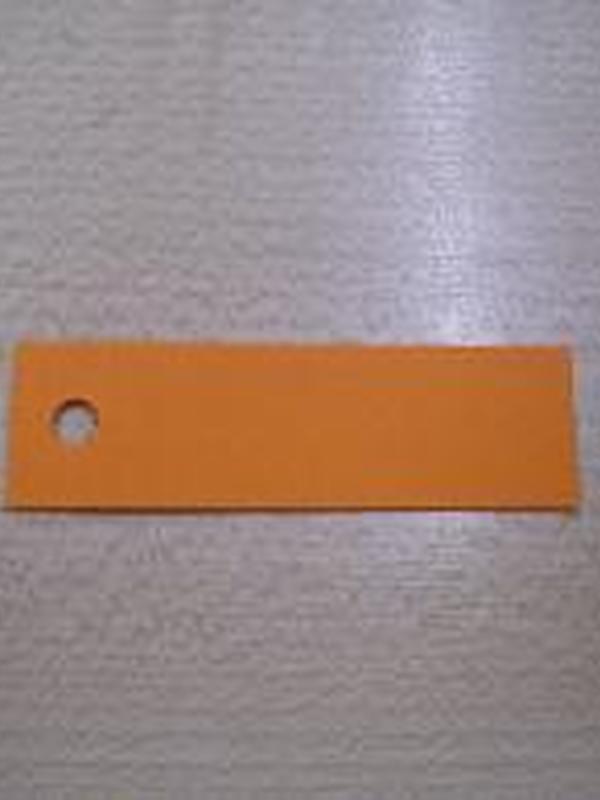 Naamkaartje Fel Oranje Rechthoekig