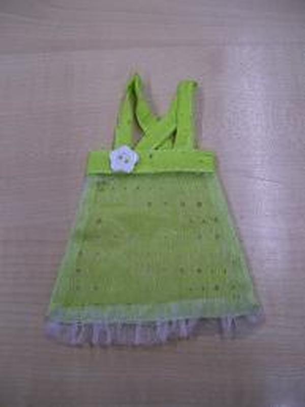 Kleedje Groen + Wit Knoopje Bloem
