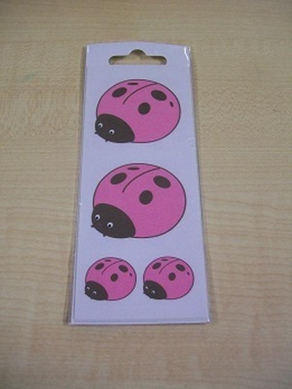 Pim-Pam Stickers Set Roze 32 Kleine + 2 Grote