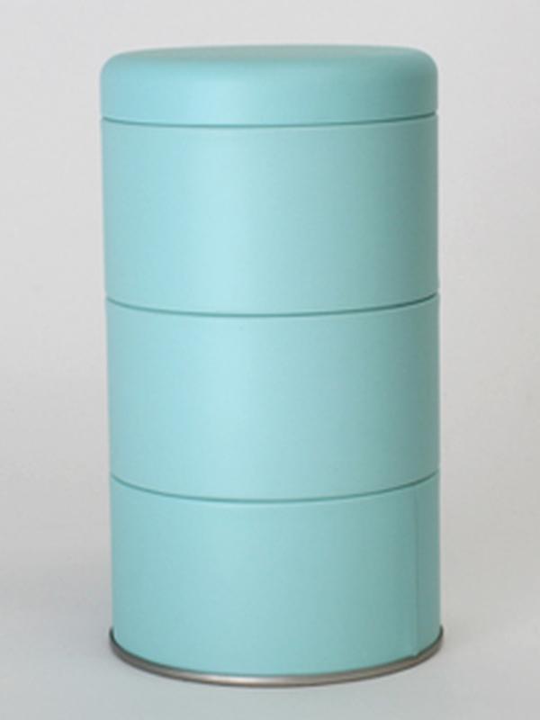 WATERGROEN BLIK ROND SET 3 STUKS MET DEKSEL 85(DIA)x125(HOOGTE)