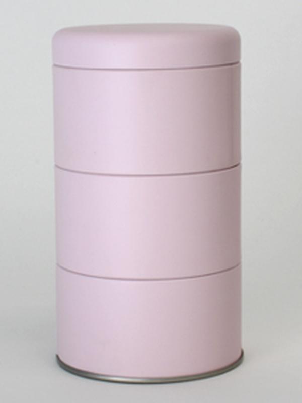 ROZE BLIK ROND 3 STUKS MET DEKSEL 85(DIA)x125(H) MM