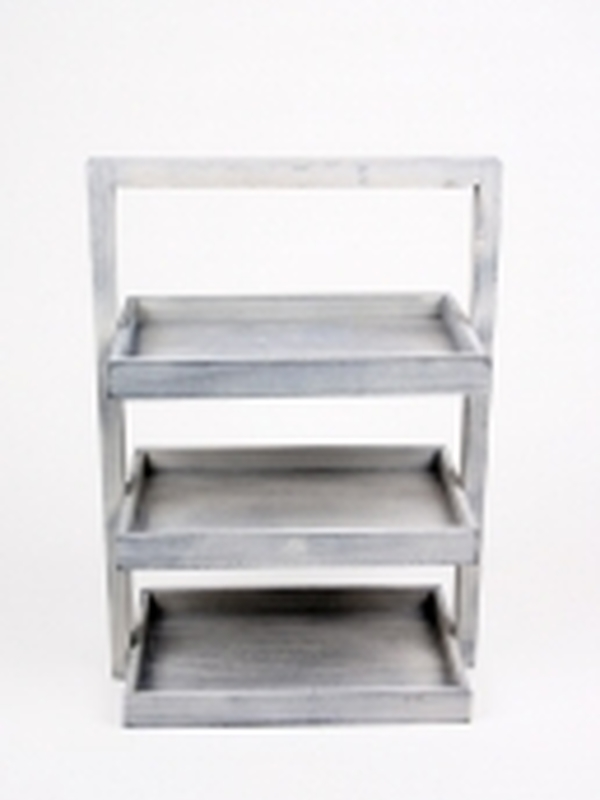3-traps mand rechthoekig grijs
