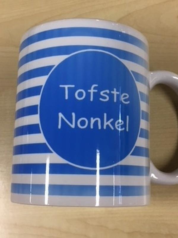 Mok Tofste Nonkel blauwe streep