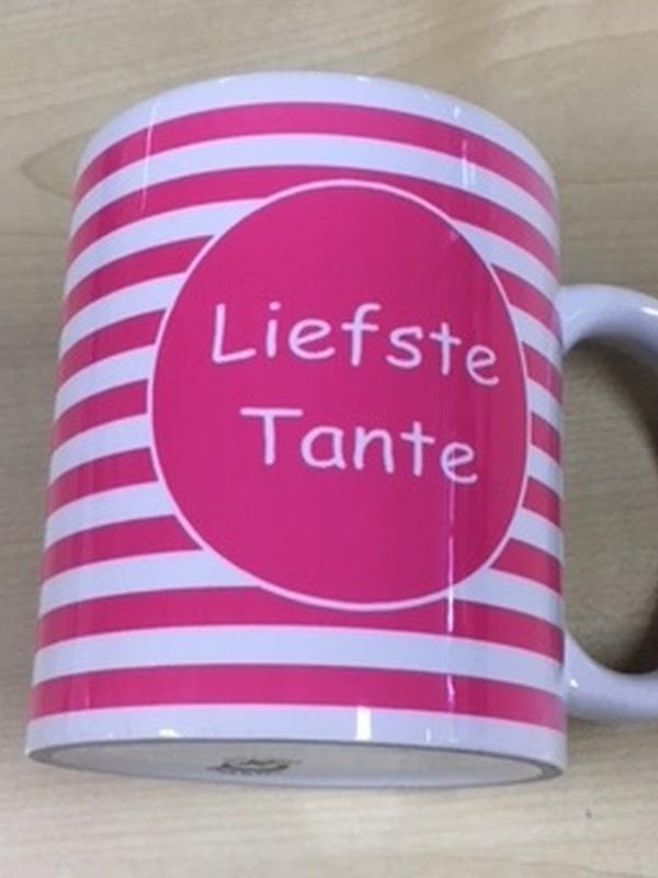 Mok Liefste Tante Roze streep