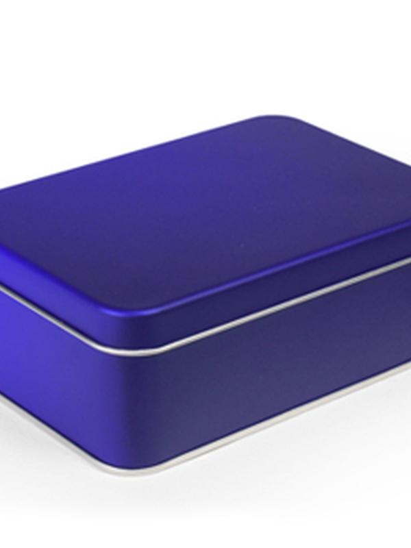 GALAXY BLUE BLIK RECHTHOEK DOOS MEDIUM 158 X 110