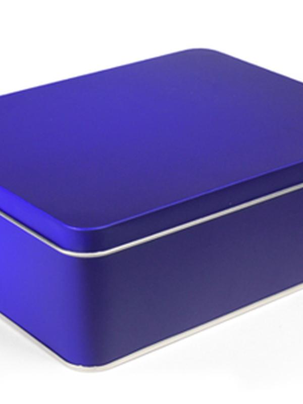 GALAXY BLUE BLIK RECHTHOEK DOOS LARGE 195 X 153