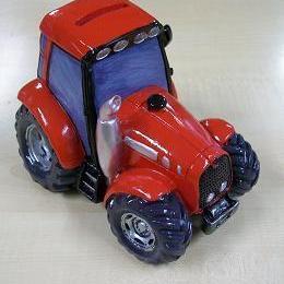 Tractor Rood Spaarpot