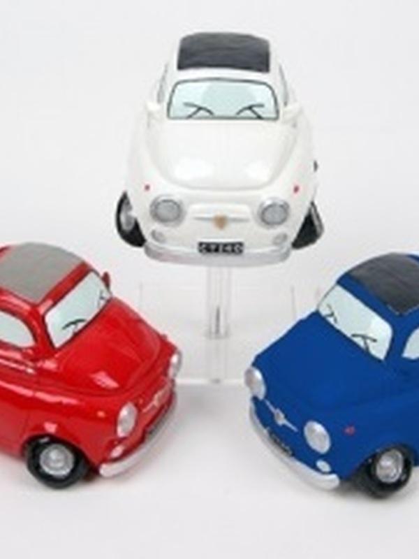 Auto Fiat 500 Spaarpot per stuk