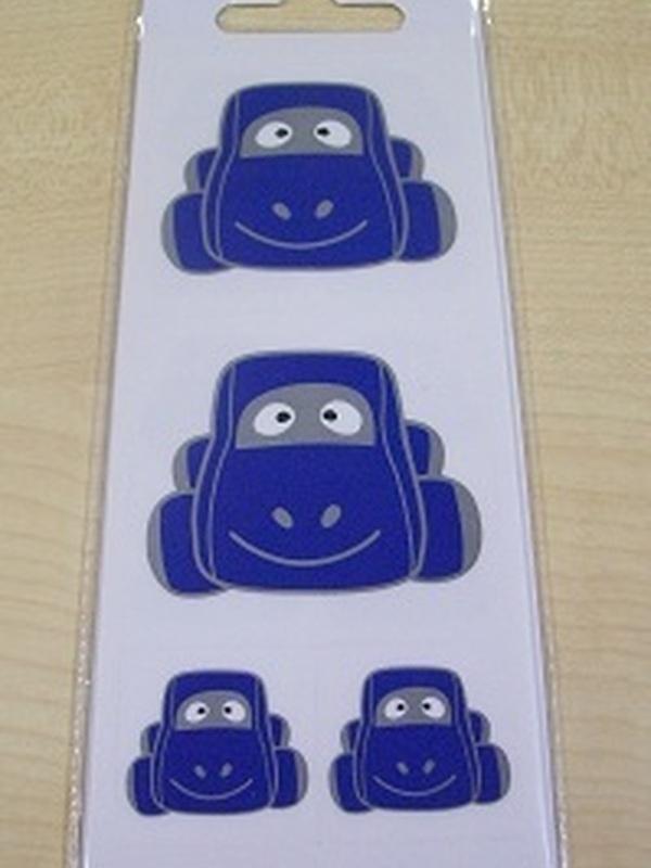 Auto Sammy Blauw Stickers Set 32 Kleine + 2 Grote