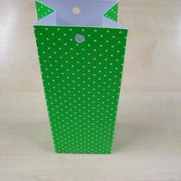 Karton Hoog Doosje Groen + Witte Stippen