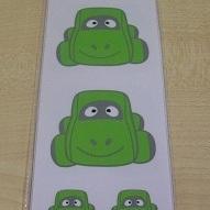 Auto Sammy Groen Stickers Set 32 Kleine + 2 Grote