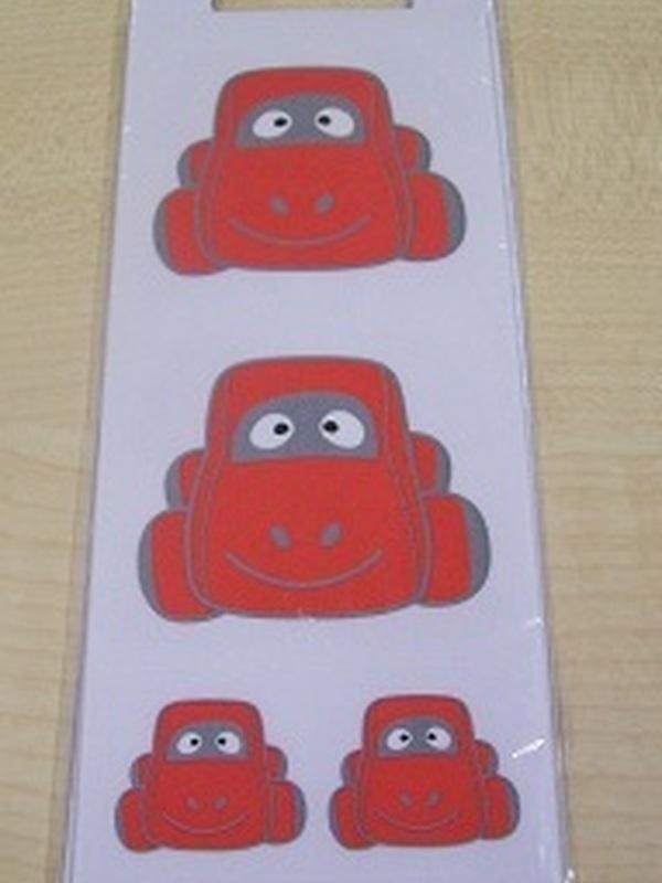 Auto Sammy Rood Stickers Set 32 Kleine + 2 Grote