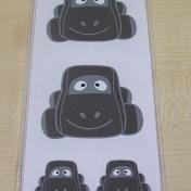 Auto Sammy Taupe Stickers Set 32 Kleine + 2 Grote