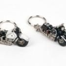 Custom Motor Sleutelhanger zwart-wit per stuk