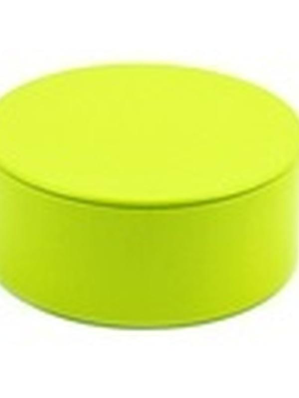 Plat Rond Blikje met deksel Lemon 4,5 x 8,3 cm