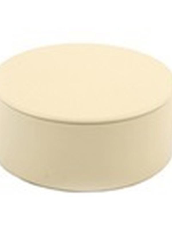 Plat Rond Blikje met deksel Ecru 4,5 x 8,3 cm