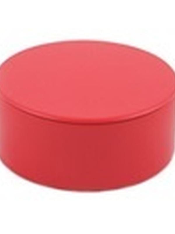 Plat Rond Blikje met deksel Rood 4,5 x 8,3 cm