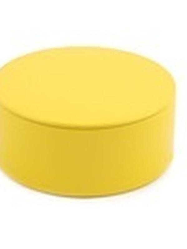Plat Rond Blikje met deksel Geel 4,5 x 8,3 cm