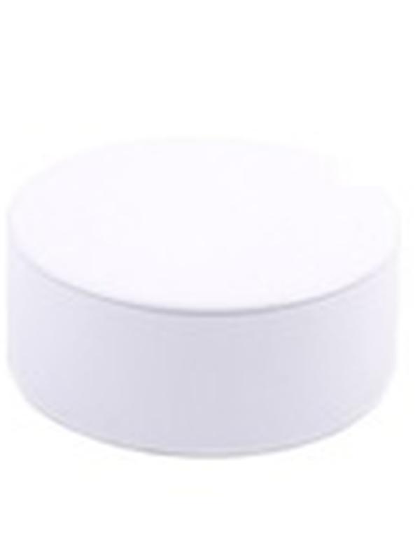 Plat Rond Blikje met deksel Wit 4,5 x 8,3 cm
