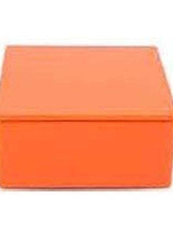 Plat Viekant Blikje met deksel Oranje 7.3x3.5cm