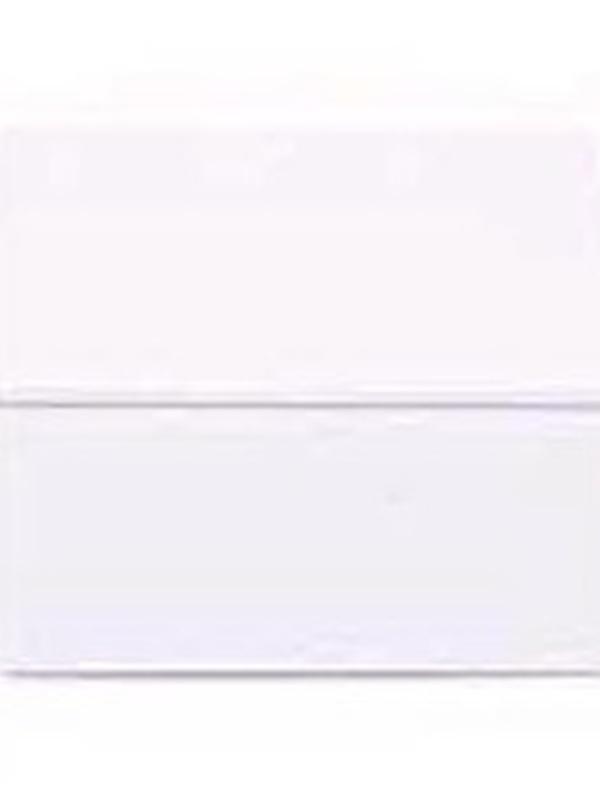 Plat Viekant Blikje met deksel Wit 7.3x3.5cm