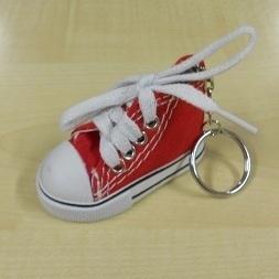 Sleutelhanger Basketschoentje Rood-wit