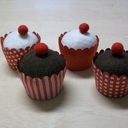 Cupakes Doosje Rood Handgeschept per Stuk