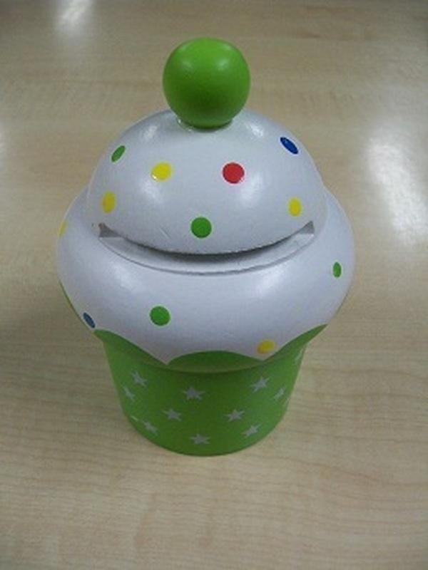 Cupcakes Spaarpot Groen