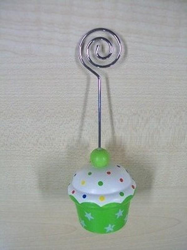 Cupcakes Fotoclip Groen