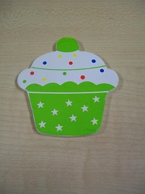 Cupcake Magneet Groen