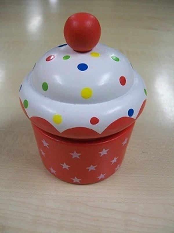Cupcakes Muziekdoos Rood