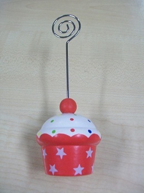Cupcakes Fotoclip Rood